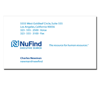 nufind business card by The Pen Rules