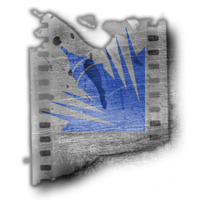 pen rules logo film strip grunge